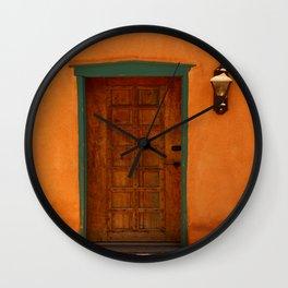 A Santa Fe  Door Wall Clock
