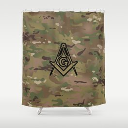 Military Square Compass Shower Curtain