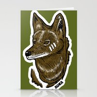 coyote Stationery Cards featuring Coyote by Sergio Campos