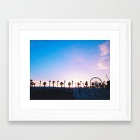 coachella Framed Art Prints featuring Coachella Sunset by Isabella Anderson