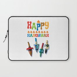 Happy Hanukkah Dreidels Laptop Sleeve