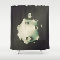 astronaut Shower Curtains featuring Astronaut by Metin Seven