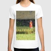 bali T-shirts featuring Bali Scarecrow by HurleyBurleyTurley