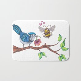 the birds and the bees Bath Mat