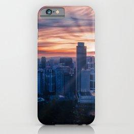Kuala Lumpur Malaysia megalopolis Petronas Twin Towers sunrise and sunset Skyscrapers Cities Megapolis Sunrises and sunsets iPhone Case