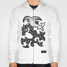 Kissing Dragon Black and white Hoody