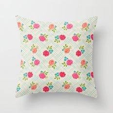 Vintage Farm floral Throw Pillow