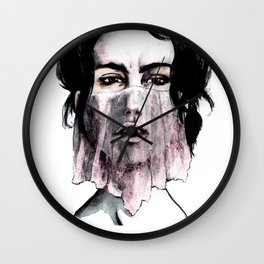 Veil in Pink Wall Clock