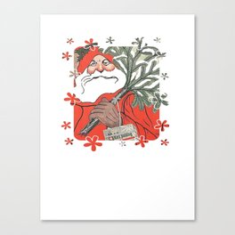 Santa Claus Delivering Christmas Pudding Kerstpudding Vector Canvas Print