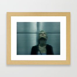 Elevator Blur Framed Art Print
