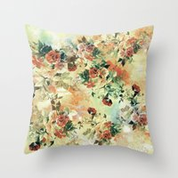 roses Throw Pillows featuring Roses by RIZA PEKER