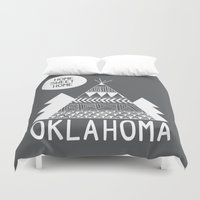 oklahoma Duvet Covers featuring Oklahoma by Ashley Love