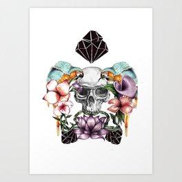 TROPO SKULL Art Print