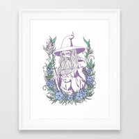 gandalf Framed Art Prints featuring Gandalf by heymonster