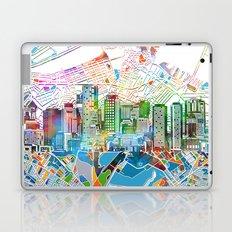 boston city skyline map Laptop & iPad Skin