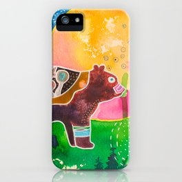 Family bear - animal - by LiliFlore iPhone Case