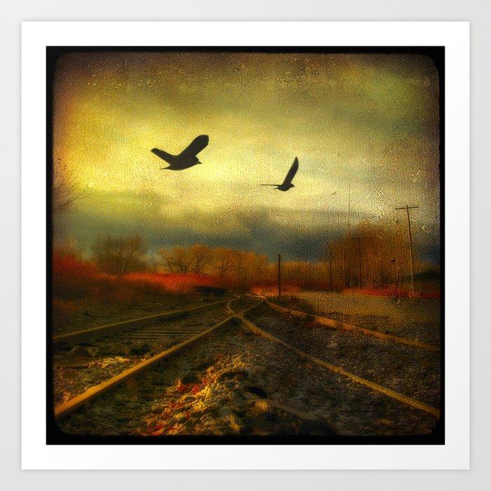 Flight Of The Blackbirds Art Print