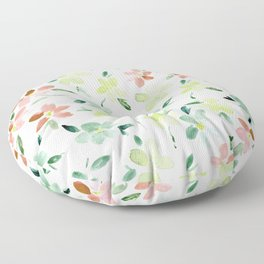 Bloom in Sardinia - watercolor flowers  Floor Pillow