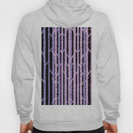 Abstract Birch Trees On Japanese Silk Hoody