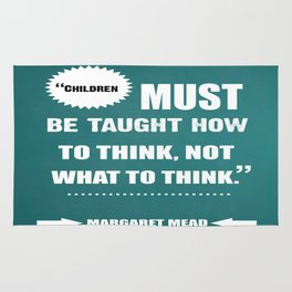 Famous Author Inspirational childrens Quote Rug