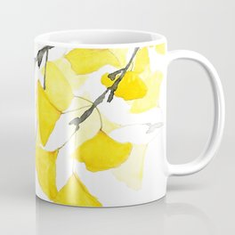 Golden Ginkgo Leaves Coffee Mug