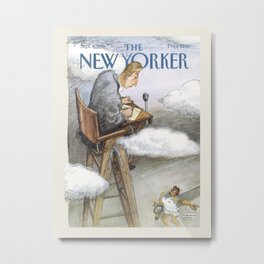 "Cover of "" The new Yorker"" magazine. Sept. 4 1995. Metal Print"