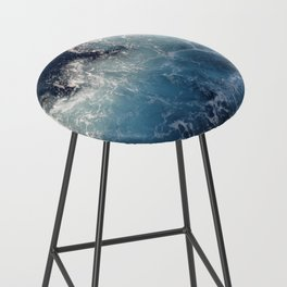 Ocean Waves Bar Stool