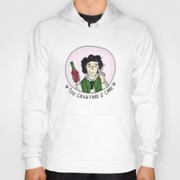 grantaire Hoodies featuring Too Grantaire 2 Care by AlyBee