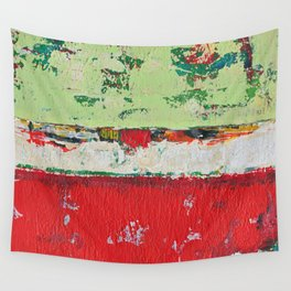 Dixon Red Green Abstract Painting Print Wall Tapestry