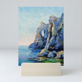 Rocky shore Mini Art Print