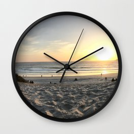One Red Boot on the Beach Wall Clock