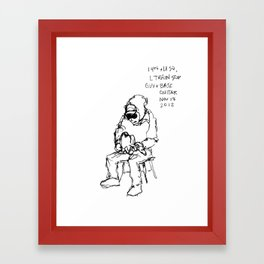 Guy and Base at Union Square Framed Art Print
