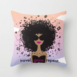 Fly Girl 3.0 Throw Pillow