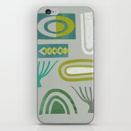 Green bits iPhone Skin