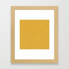 Lines / Yellow Framed Art Print