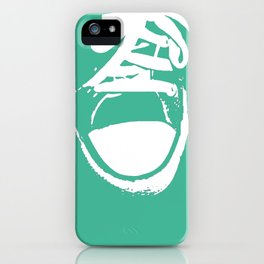 Colorful Converse Sneakers in Sea-foam Green. iPhone Case