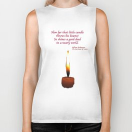 Shakespeare Candle Flame Biker Tank