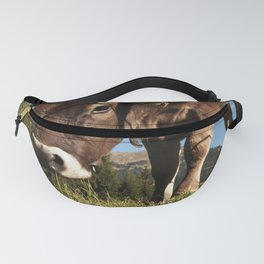cute cow close Fanny Pack