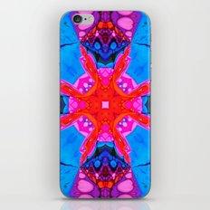 Liquid Blue Pink Fractal iPhone & iPod Skin