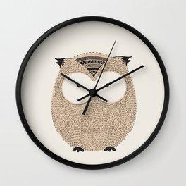 Owl Cute Woodland Animals Wall Clock