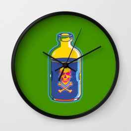 psychedelic poison bottle Wall Clock