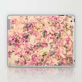 Vintage Pink Crabapple Tree Blossoms in the Sun Laptop & iPad Skin