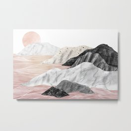 Marble Landscape I Metal Print