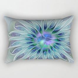 Floral Beauty, Fantasy Flower Rectangular Pillow