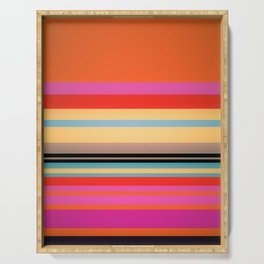 Sunset Stripes Serving Tray