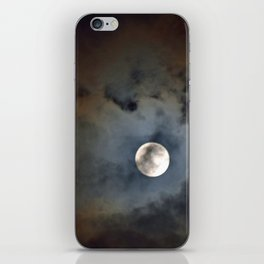 """""""Shadowy Moon #44"""" with poem: New Year's Moon iPhone Skin"""
