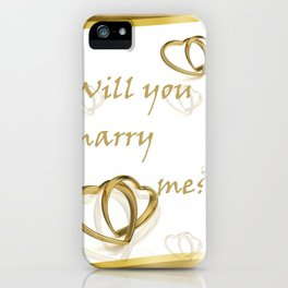 Will you marry me ??? iPhone Case