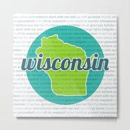 Words of Wisconsin Metal Print
