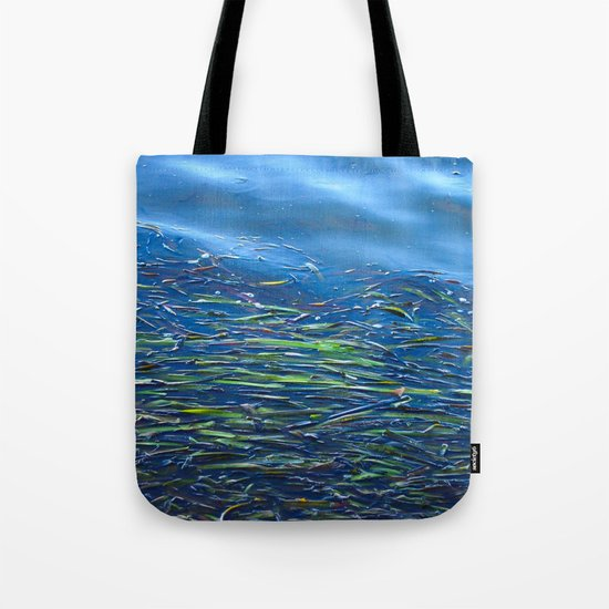 Blues and Greens Tote Bag
