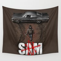 akira Wall Tapestries featuring Sam by Six Eyed Monster